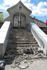 Remont schodów 14.05.2009